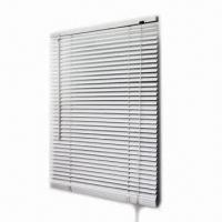 Buy cheap 1-inch PVC Light Fitting Mini Blind with Regular Ladder Stripe from wholesalers