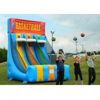 Buy cheap Enviromental Inflatable Basketball Hoop With Basketball Shooter Games from wholesalers