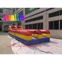 Buy cheap Hiring Double Tunnel Inflatable Bungee Run Sports Games For Adult from wholesalers