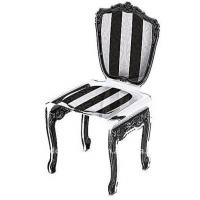 Buy cheap Black / Red Modern Acrylic Furniture Baroque Chair With Screen Print product