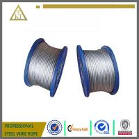 Buy cheap Electric Galvanized Steel Wire Rope 1x7 steel cable steel wire cable from wholesalers