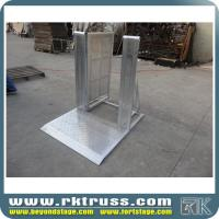 Buy cheap silver crowd control barrier for sport events gate barrier with aluminum material with heavy duty and high quality from wholesalers