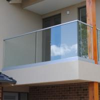 Buy cheap Wall Bracket Tempered Glass Terrace Steel Balcony Railing Designs from wholesalers