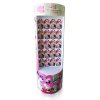 Buy cheap Facial Mask Supermarket Cardboard Floor Display semi - circle with hooks from wholesalers