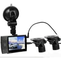 Buy cheap AS3000A 1280*720P Car Video Recorder With 2 Reversing Rear View Cam 3.5 Inch LCD Record Real Time Road Conditions from wholesalers