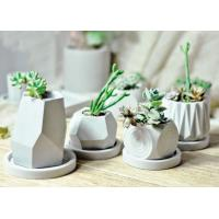 Buy cheap Handmade Silicone Concrete Mold , White DIY Rubber Cement Moulds from Wholesalers