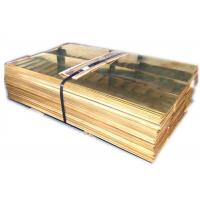 Buy cheap 4x8 Metal Brass Sheet , Yellow Copper Plate Stock H62 H65 C28000 C27400 from wholesalers