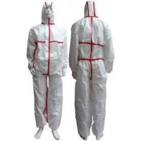 Buy cheap Tear Resistant Clean Room Bunny Suit Anti - Shrink With Adhesive Sealed Tape from wholesalers