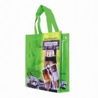 Buy cheap Promotional Laminated Nonwoven/Woven PP Shopping Bag with Glossy or Matte Lamination product
