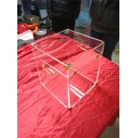 Buy cheap High Hardness Large Clear Acrylic Trunk For Storage Boxes With Lock product