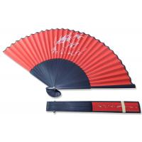 Buy cheap Red Fabric Bamboo Folding Fan Chinese Bamboo Fan For Wedding Decoration product
