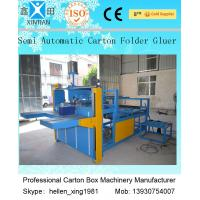 Corrugated And Paperboard Semi Auto Gluer Machine / Carton Gluing Machine