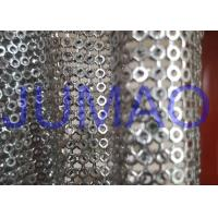 Buy cheap Silver Hollow Metal Sequin Fabric Light Sparkling Curtains For Architect from wholesalers