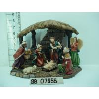 Buy cheap Wood House Polyresin Religious Figurines Handmade For Nativity Set from wholesalers