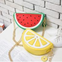 Buy cheap Cute cartoon fruit watermelon fresh lemon package 2016 new chain shoulder bag diagonal female packet from wholesalers