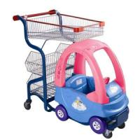 Buy cheap Steel Supermarket Shopping Trolley Retail Wheeled Shopping Carts For Kids from wholesalers