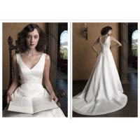 New Meghan Markle Style A Line Wedding Dresses Covered Buttons Bridal Gowns
