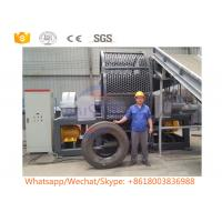 Buy cheap Customized Waste Mobile Tire Shredder / Scrap Tyre Twin Shaft Shredder from wholesalers