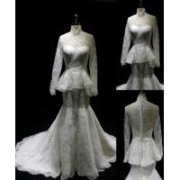 Buy cheap Muslim Wedding Gown High Collar Wedding Dress in Cream Color BYB-14524 from wholesalers