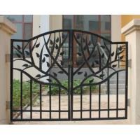 Buy cheap Sliding Wrought Iron Doors Cast Iron Garden Gate Hot Dip Galvanized Processing from wholesalers