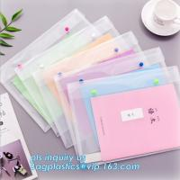 Buy cheap A4 custom PP plastic file folder, document wallet with button, pp a4 decorative expanding file folders from wholesalers