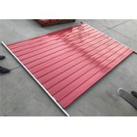 Buy cheap Temporary Steel Hoarding Fence color steel infilled 1.0mm thick OD 32 x 2.0mm outer tubing red and blue as orange color from wholesalers