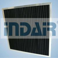 Buy cheap High Air Flow Rate HVAC Air Filters Cardboard Material Activated Carbon Media from wholesalers