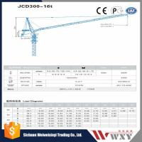 Buy cheap High Quality JCD300 16Ton Luffing Crane with 60m Jib Length from wholesalers