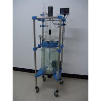 Buy cheap Cylindrical Glass Jacketed Reactor 50L from wholesalers