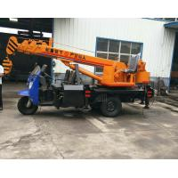 Buy cheap Tricycle Hydraulic Truck Mounted Crane , 3- 5 Ton Lifting Mobile Truck Crane from wholesalers