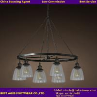 Buy cheap Clear glass and black metal pendant lighting From Best Ages Buying Agent from wholesalers
