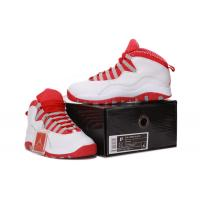 Buy cheap Wholesale Retro Jordan 10 White Grey and Red Men Basketball Shoes 669 from wholesalers