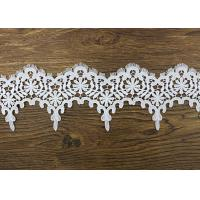 Buy cheap Wedding Guipure Polyester Lace Trim Azo Free DTM Dyeing Color For Bridal Dress from wholesalers