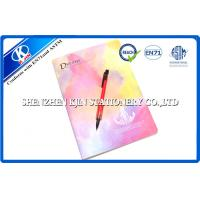 Buy cheap Kraft recycled paper notebooks / A4 Pink Sewing Binding Notebook For School from wholesalers