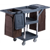 Buy cheap Noiseless Street Rubber Wheel Janitorial Cleaning Cart from wholesalers