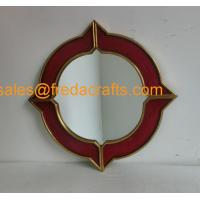 Buy cheap FR-16700 China Factory Regular Size Round Shape Wood Frame Decorative Wall Mirror from wholesalers