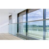 Buy cheap Core mount aluminum u base shoe/ channel glass railing with laminated glass product