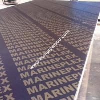 Buy cheap 4x8feet top quality brown film faced plywood, 18mm shuttering plywood, marine plywood from wholesalers