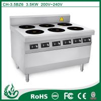 Buy cheap Heavy Duty Electric Induction Multi Cooker Stove With 6 Burner Easy Operate from wholesalers