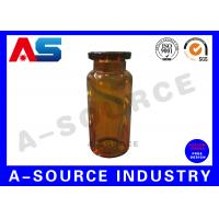 Buy cheap Amber Brown Glass Pharmaceutical Industrial 10ml  Dropper Bottles Ayonet Mouth / Dropper from wholesalers