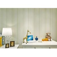 Buy cheap Green Modern Striped Floral Wallpaper For Girl'S Room , Smooth Surface Paper from wholesalers