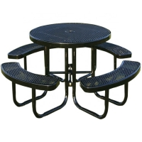 Buy cheap Factory Price Outdoor Dining Coffee Table Metal Round Picnic Table and Bench from wholesalers