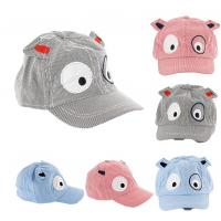 Buy cheap lovely infant baby child strip cotton fabric kids ear hat embroidery eyes from wholesalers