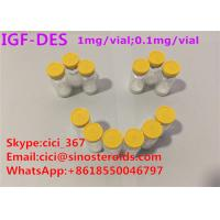 Buy cheap High Purity IGF-Des growth hormone releasing peptide muscle growth peptides from wholesalers