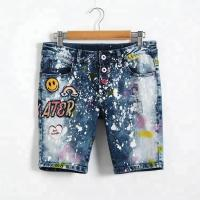Buy cheap Adjustable Waist Bermuda Short Jeans Pant For Girl , Knee Length Denim Shorts from wholesalers