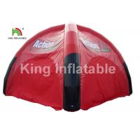 Buy cheap Airtight Black And Red Inflatable Event Tent For Advertising / Exhibition / Tourist from wholesalers