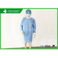 China Customized Non Woven Disposable Lab Jackets Breathable S - 6XL on sale