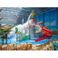 Buy cheap Spray Small Green Water Playground Equipment Red / Blue Slide Water Playground product