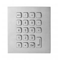 Buy cheap 19 Keys Water Proof Metal Keypad Stainless Steel desk top solution with USB and PS2 interface from wholesalers