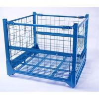 Buy cheap F-4 Rigid Collapsible Wire Mesh Container with half-hinged gate from wholesalers